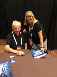 Dr. Tony Bates with Kathy Keairns at book signing